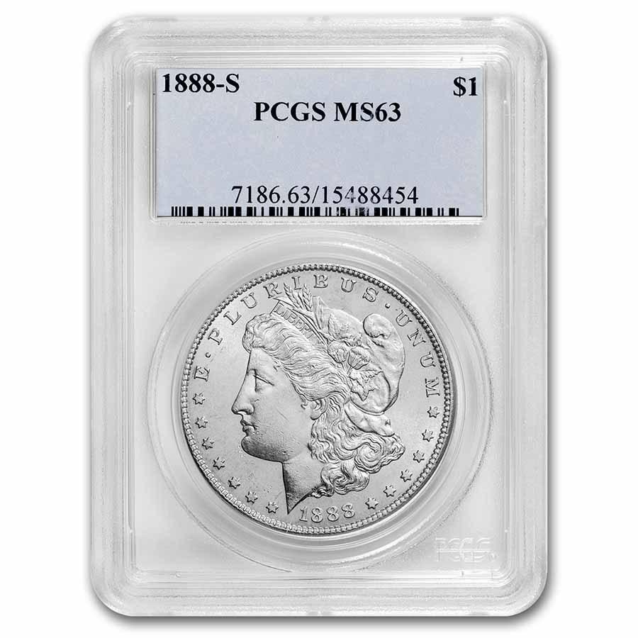 1888-S Morgan Dollar MS-63 PCGS