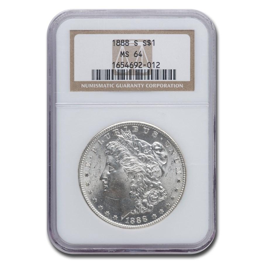 1888-S Morgan Dollar MS-64 NGC