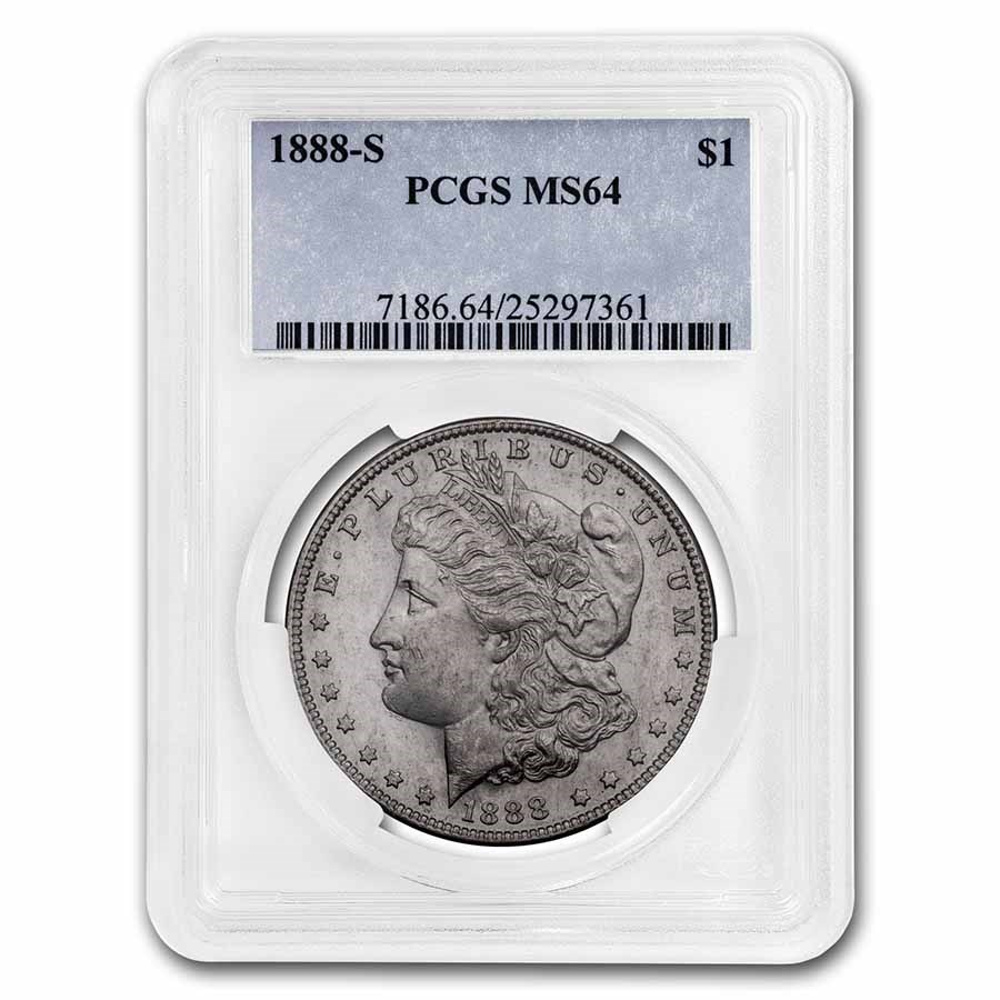 1888-S Morgan Dollar MS-64 PCGS