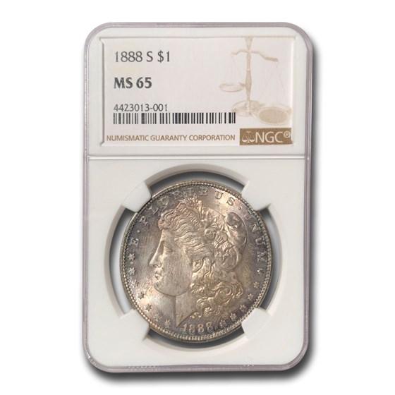 1888-S Morgan Dollar MS-65 NGC