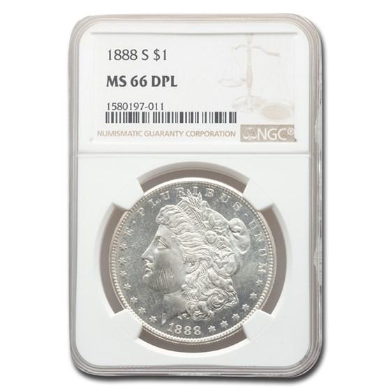 1888-S Morgan Dollar MS-66 DPL NGC