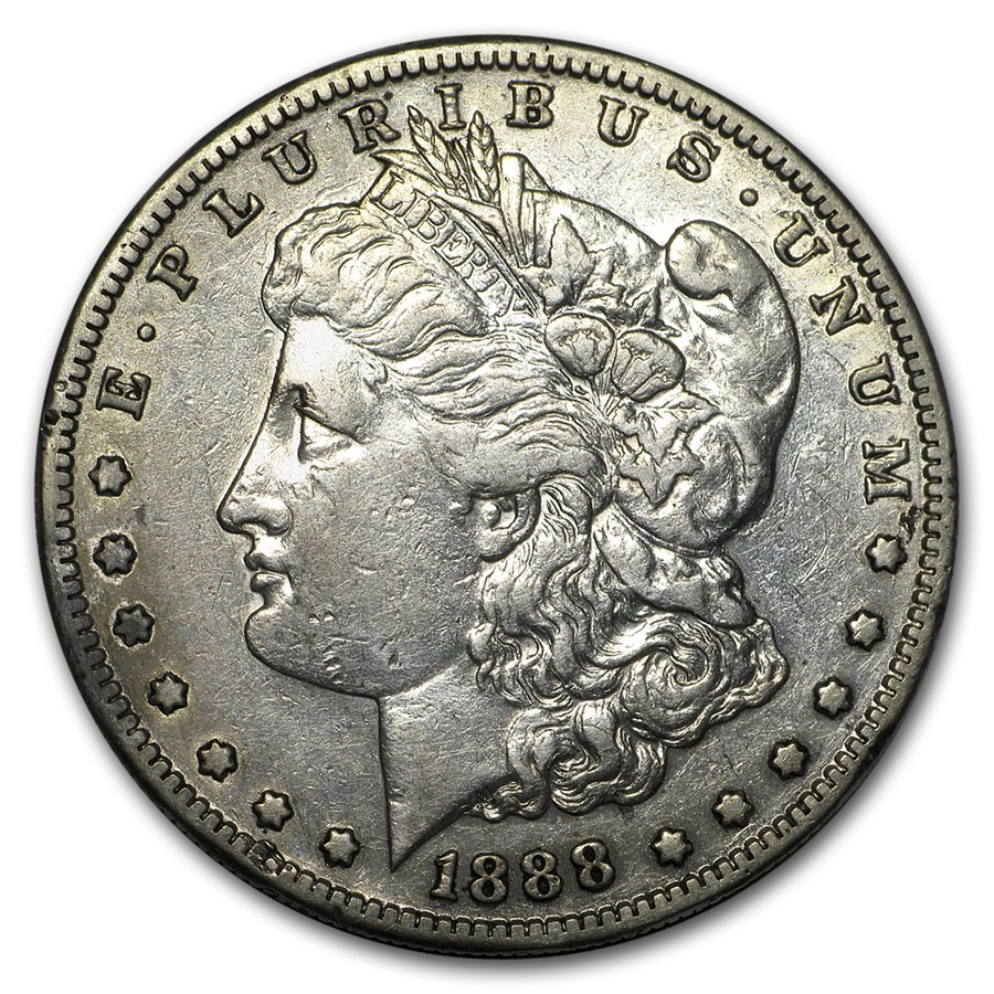 1888-S Morgan Dollar XF Details (Cleaned)