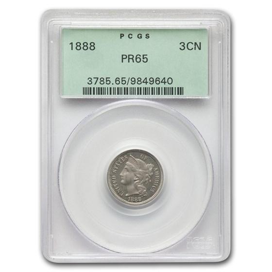 1888 Three Cent Nickel PR-65 PCGS