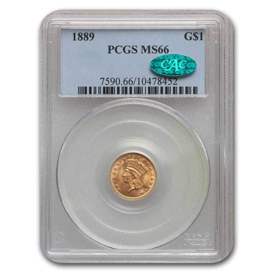 1889 $1 Indian Head Gold MS-66 PCGS CAC