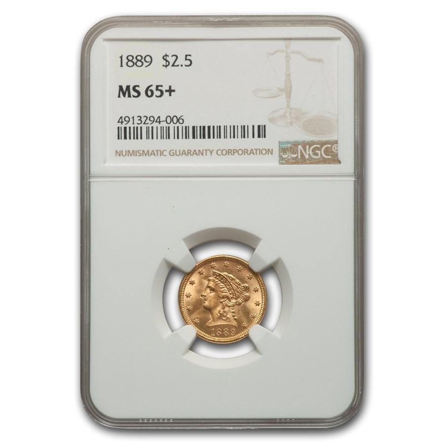 1889 $2.50 Liberty Gold Quarter Eagle MS-65+ NGC