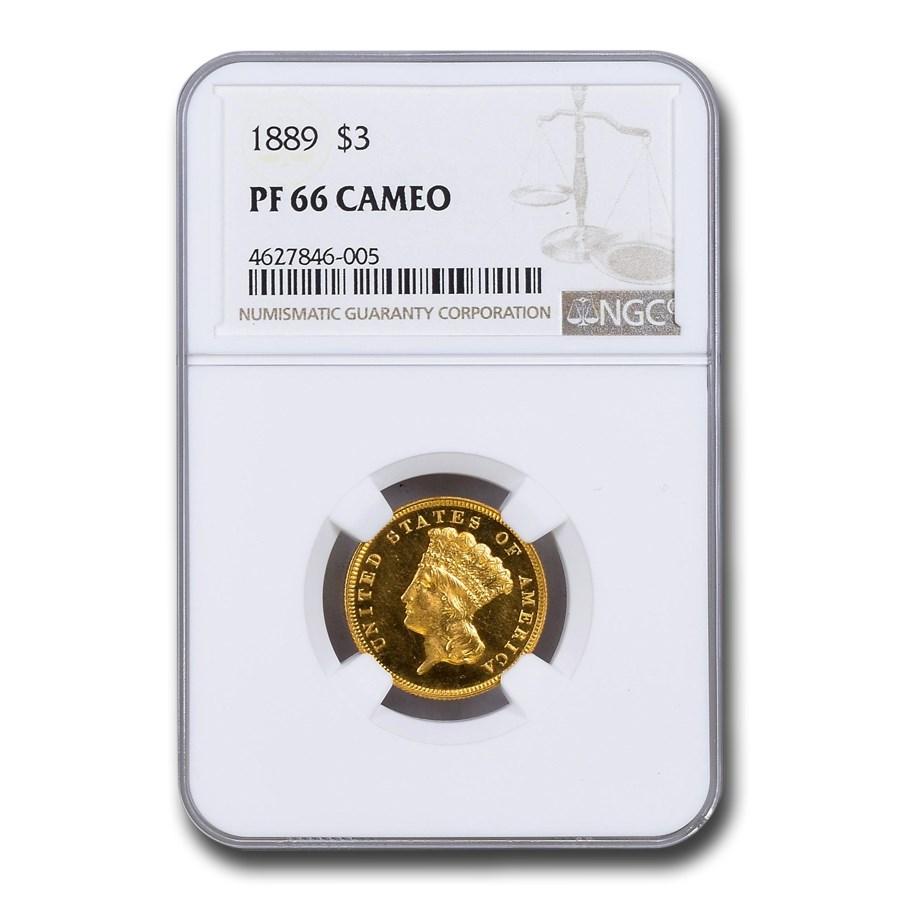 1889 $3 Gold Princess PF-66 Cameo NGC