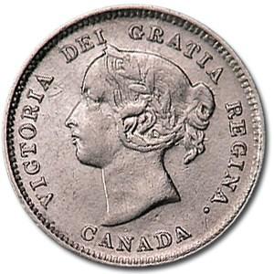 1889 Canada 5 Cents Silver Fine Details (Bent)