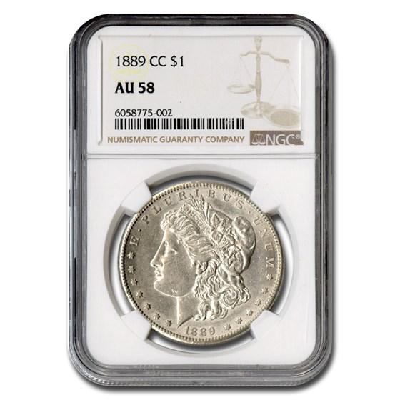 1889-CC Morgan Dollar AU-58 NGC