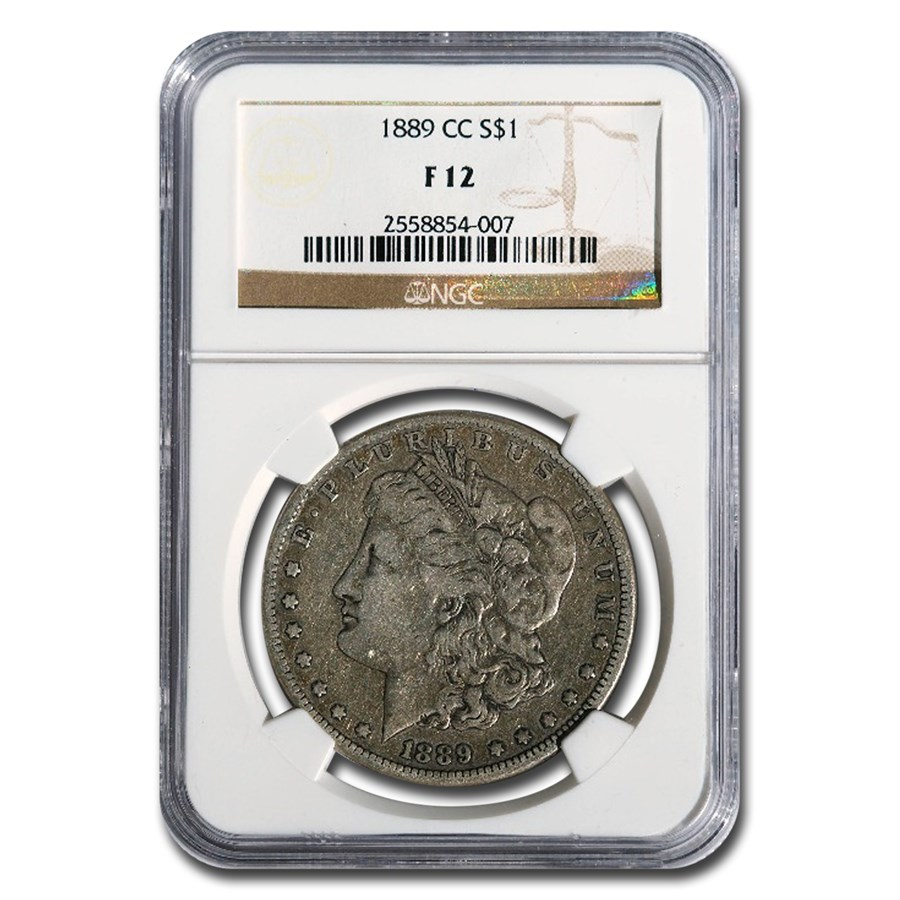 1889-CC Morgan Dollar Fine-12 NGC