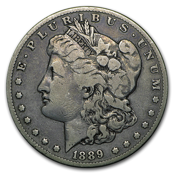 1889-CC Morgan Dollar Fine