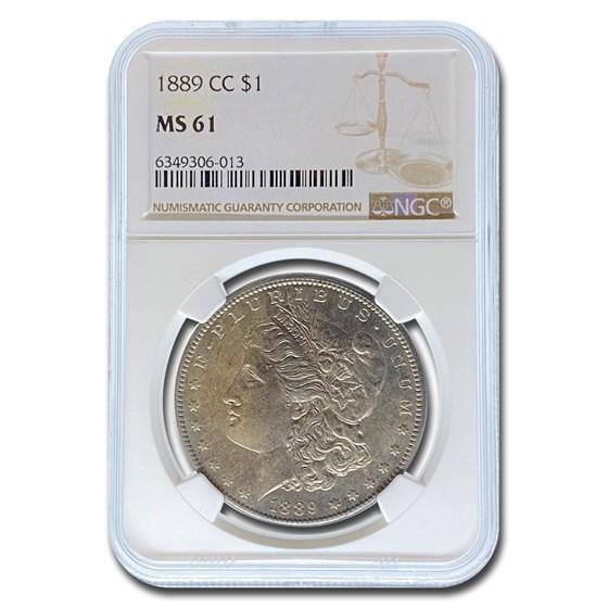 1889-CC Morgan Dollar MS-61 NGC