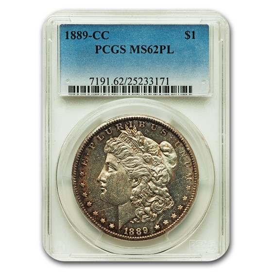 1889-CC Morgan Dollar MS-62 PCGS (PL)
