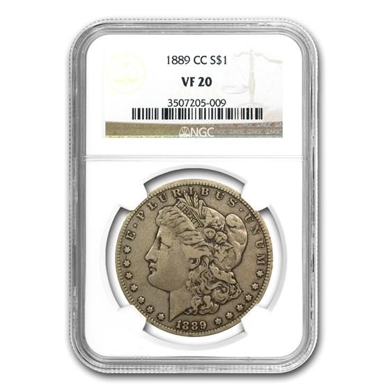 1889-CC Morgan Dollar VF-20 NGC (CAC)