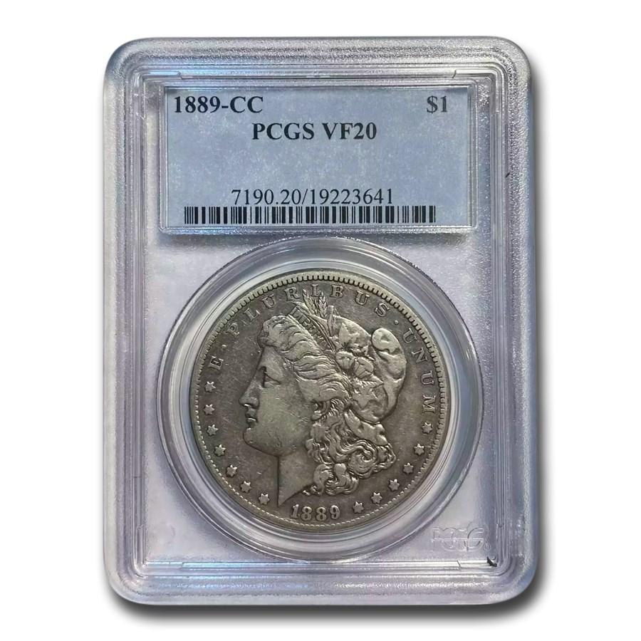1889-CC Morgan Dollar VF-20 PCGS