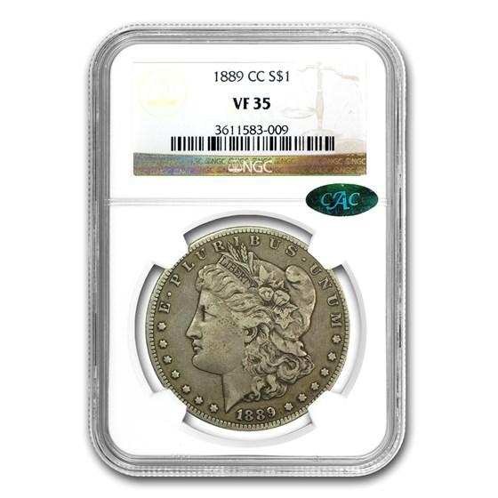 1889-CC Morgan Dollar VF-35 NGC (CAC)