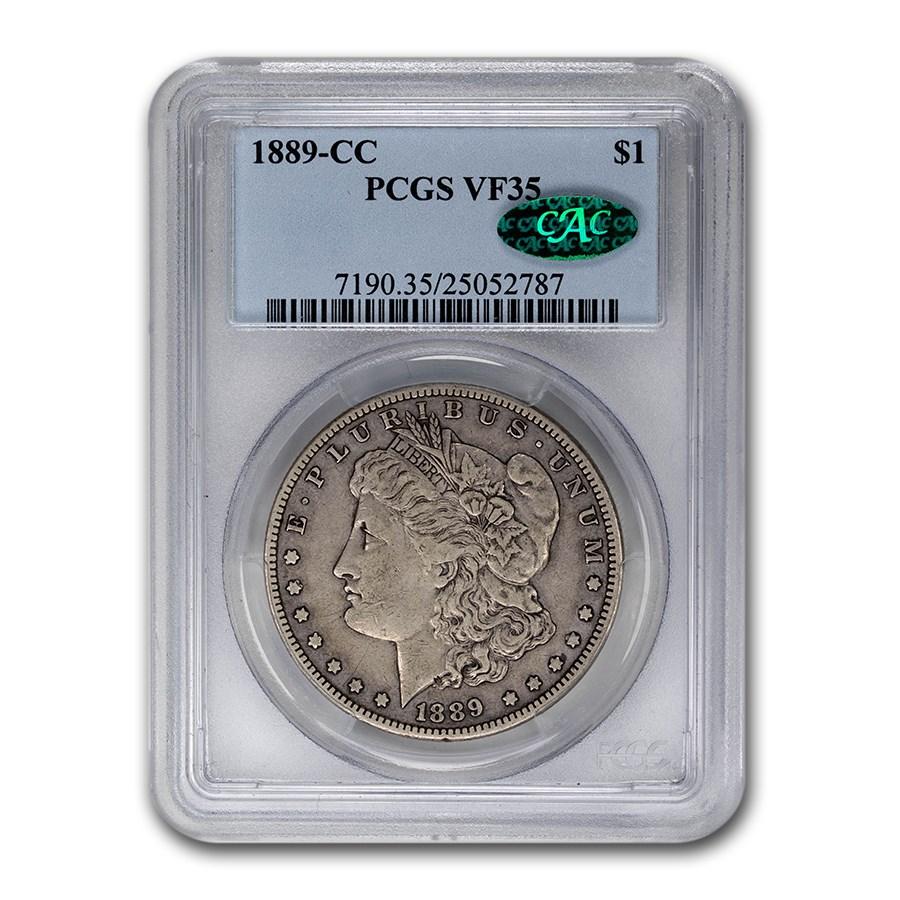 1889-CC Morgan Dollar VF-35 PCGS CAC