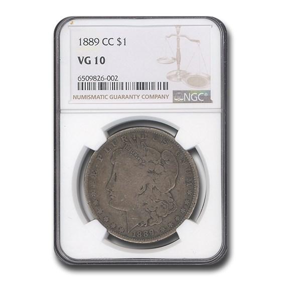 1889-CC Morgan Dollar VG-10 NGC
