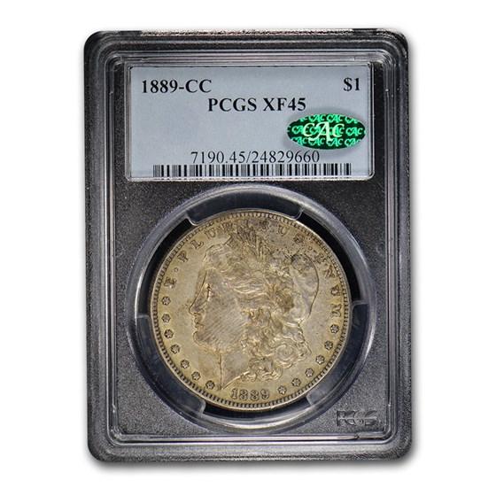 1889-CC Morgan Dollar XF-45 PCGS CAC