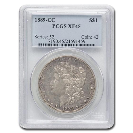 1889-CC Morgan Dollar XF-45 PCGS