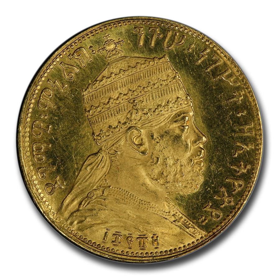 1889 Ethiopia Gold 4 Werk Talari Menelik II SP-64 PCGS