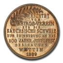 1889 German Saxony-Albertine Wettin Obelisk Medal SP-65 PCGS