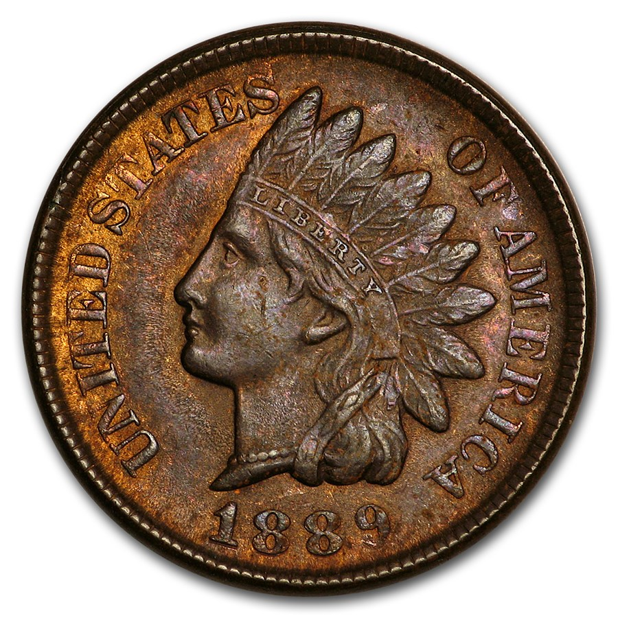 1889 Indian Head Cent MS-62