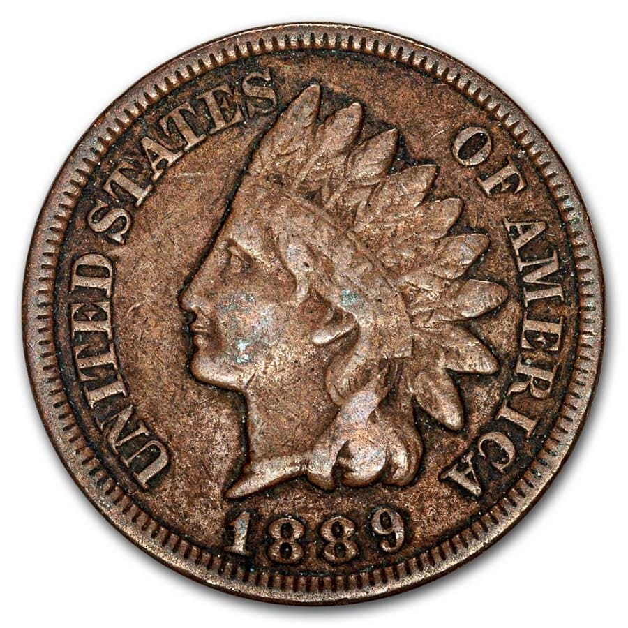 1889 Indian Head Cent VF