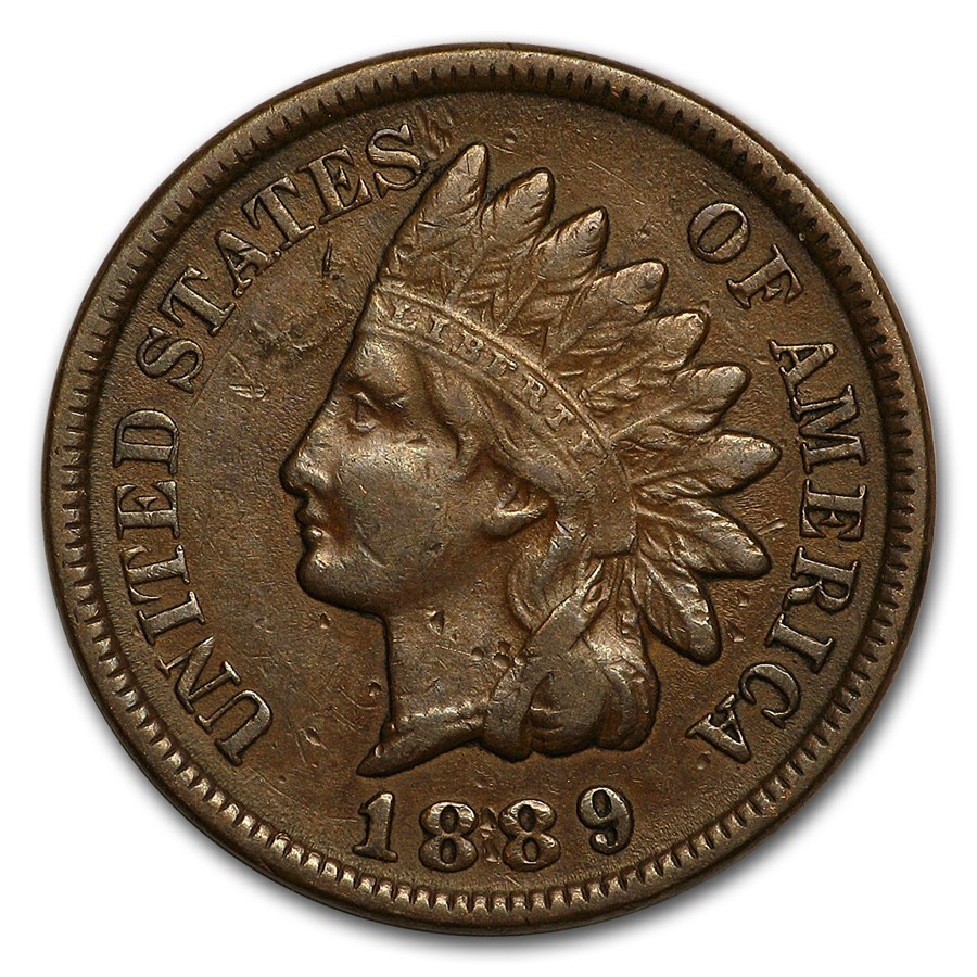 1889 Indian Head Cent XF
