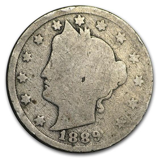 1889 Liberty Head V Nickel AG