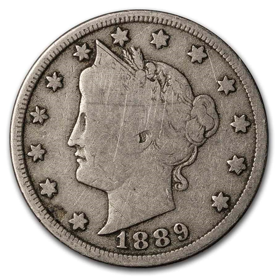 1889 Liberty Head V Nickel Good