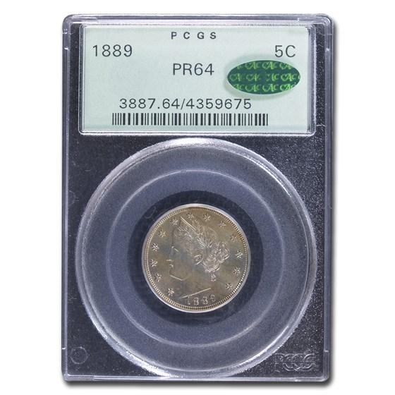 1889 Liberty Head V Nickel PR-64 PCGS CAC
