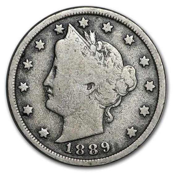 1889 Liberty Head V Nickel VG