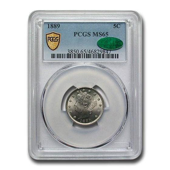 1889 Liberty Nickel MS-65 PCGS CAC