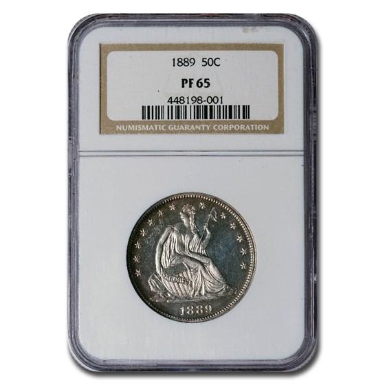 1889 Liberty Seated Half Dollar PF-65 NGC