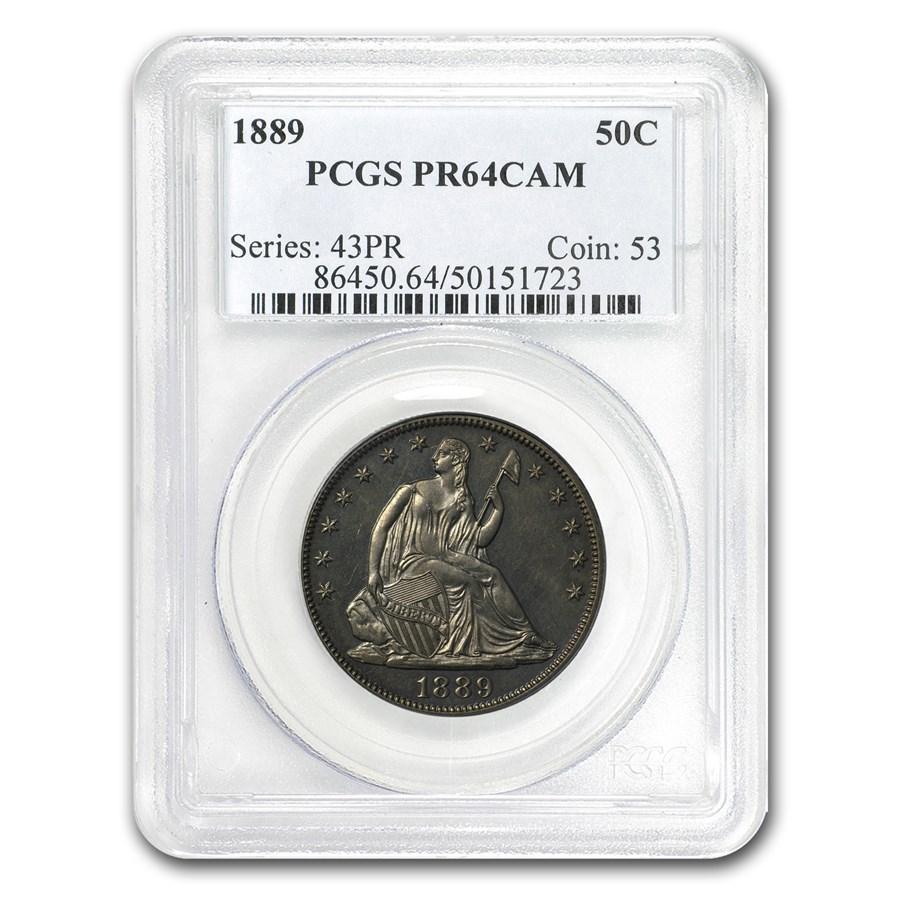 1889 Liberty Seated Half Dollar Proof PR-64 Cameo