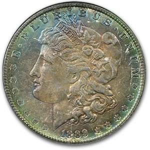 1889 Morgan Dollar MS-62 NGC (Camouflage Toning)