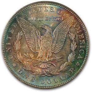 1889 Morgan Dollar MS-63 NGC (Bright & Colorful Toning)