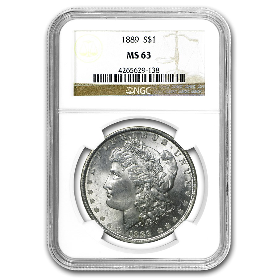 1889 Morgan Dollar MS-63 NGC