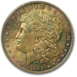 1889 Morgan Dollar MS-63 PCGS (Deep Original Toning)