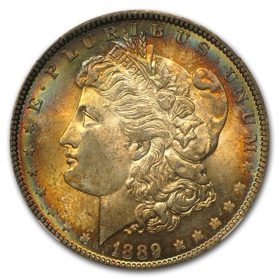 1889 Morgan Dollar MS-64* NGC (Star Designation Target Toning)