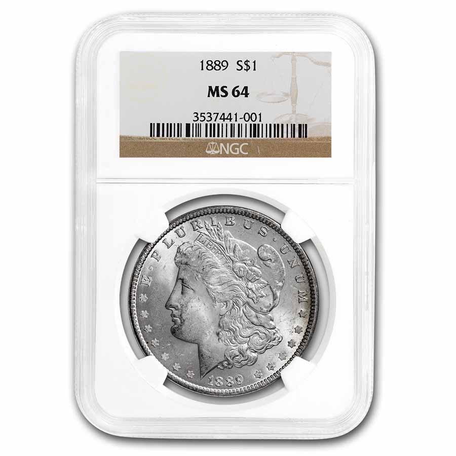 1889 Morgan Dollar MS-64 NGC