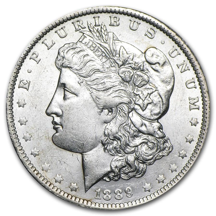 1889-O Morgan Dollar AU-58