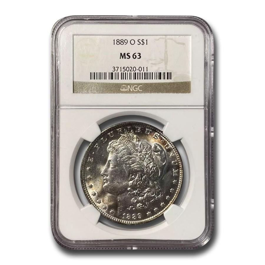 1889-O Morgan Dollar MS-63 NGC