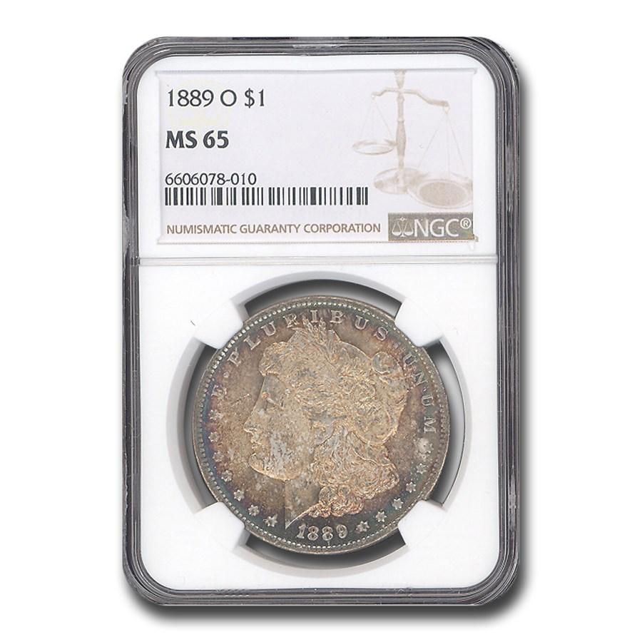 1889-O Morgan Dollar MS-65 NGC