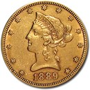 1889-S $10 Liberty Gold Eagle AU