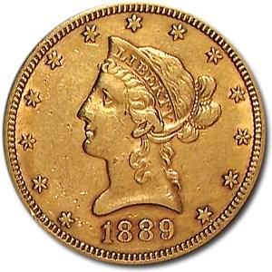 1889-S $10 Liberty Gold Eagle AU