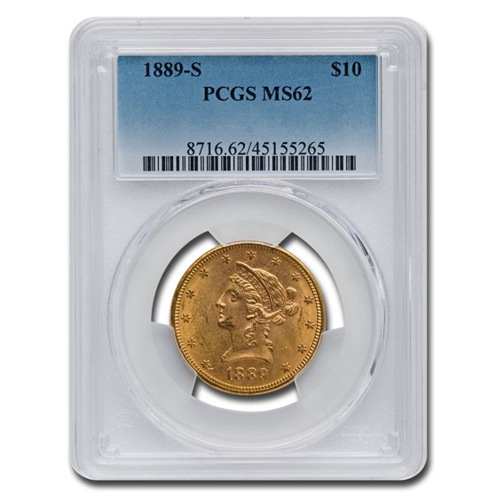 1889-S $10 Liberty Gold Eagle MS-62 PCGS