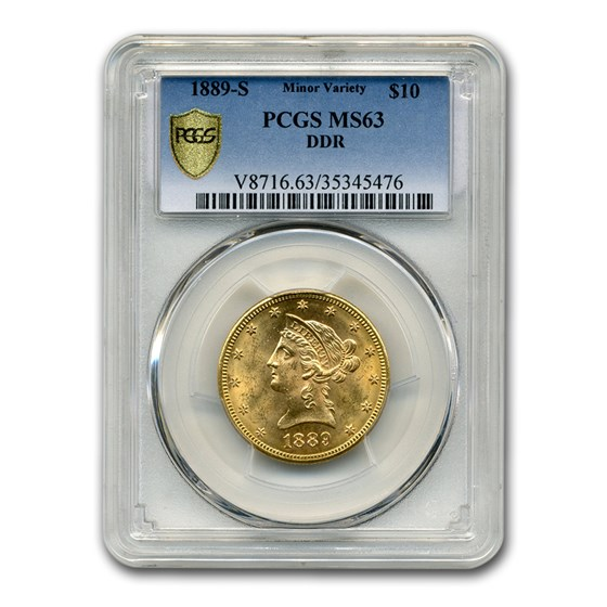 1889-S $10 Liberty Gold Eagle MS-63 PCGS (DDR)