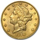 1889-S $20 Liberty Gold Double Eagle AU