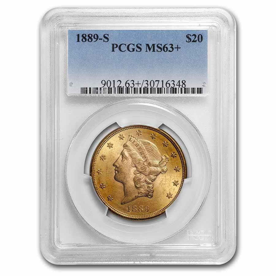 1889-S $20 Liberty Gold Double Eagle MS-63 PCGS